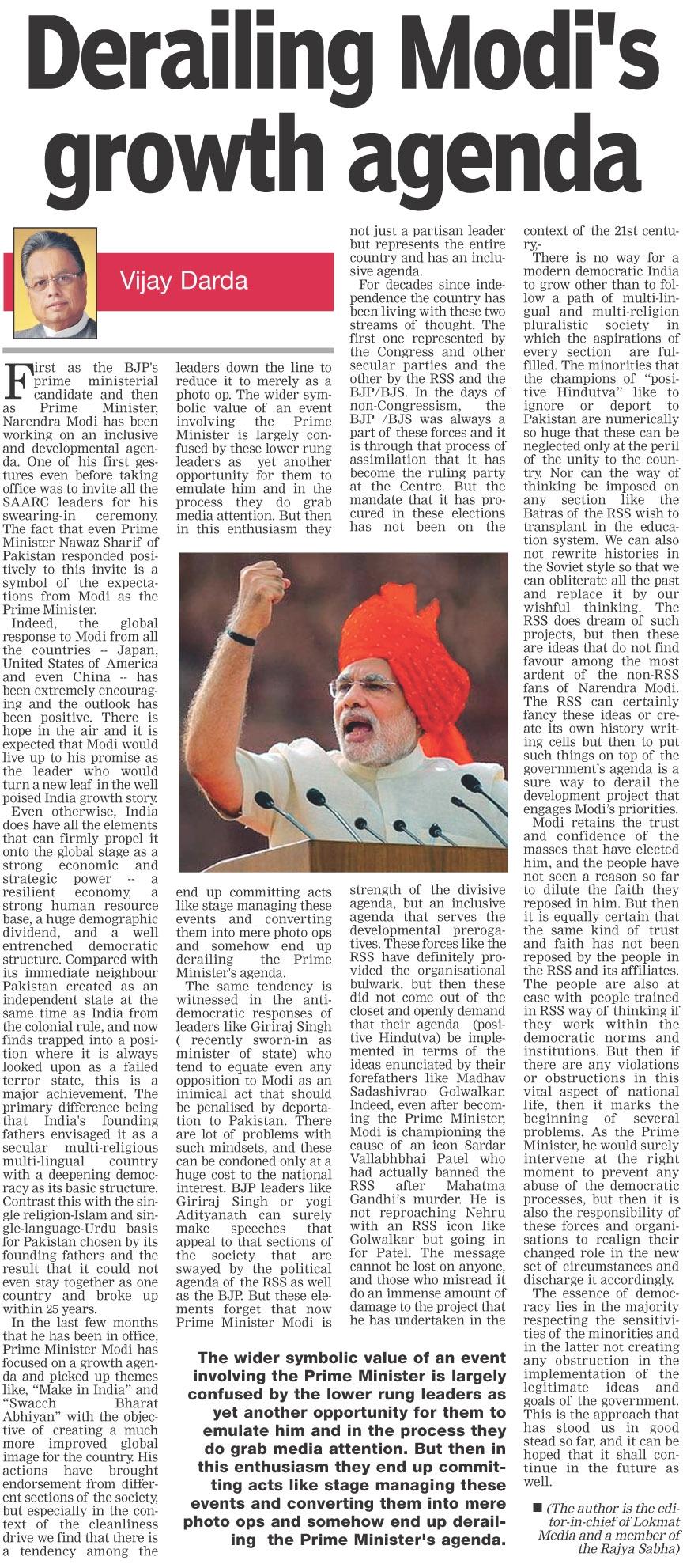 Derailing Modi's growth agenda
