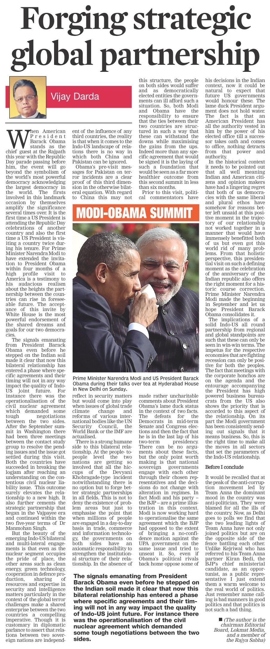 Forging strategic global partnership