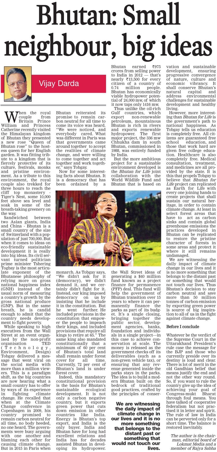 Bhutan: Small neighbour, big ideas