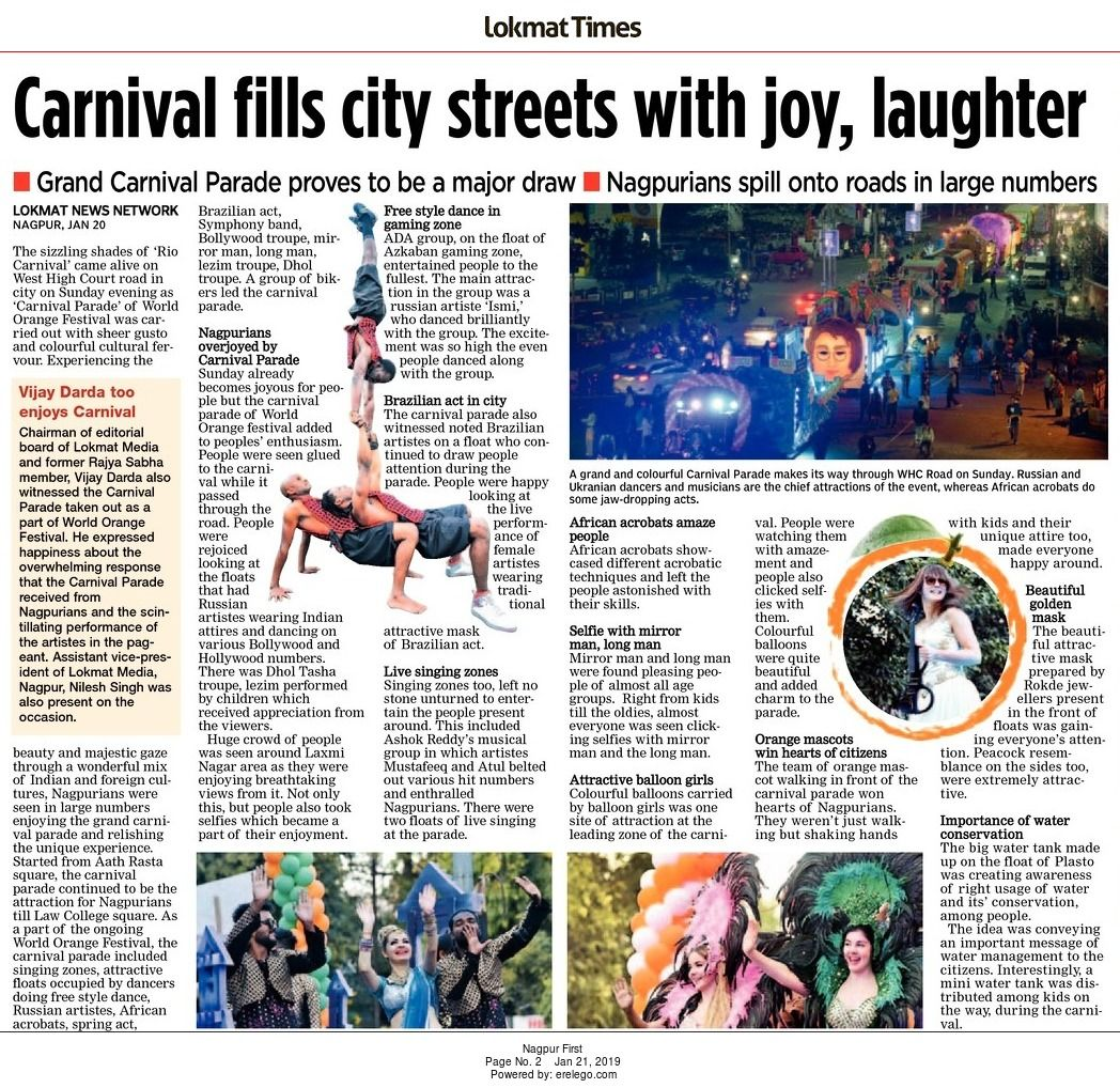 Carnival fills city streets with joy, laughter