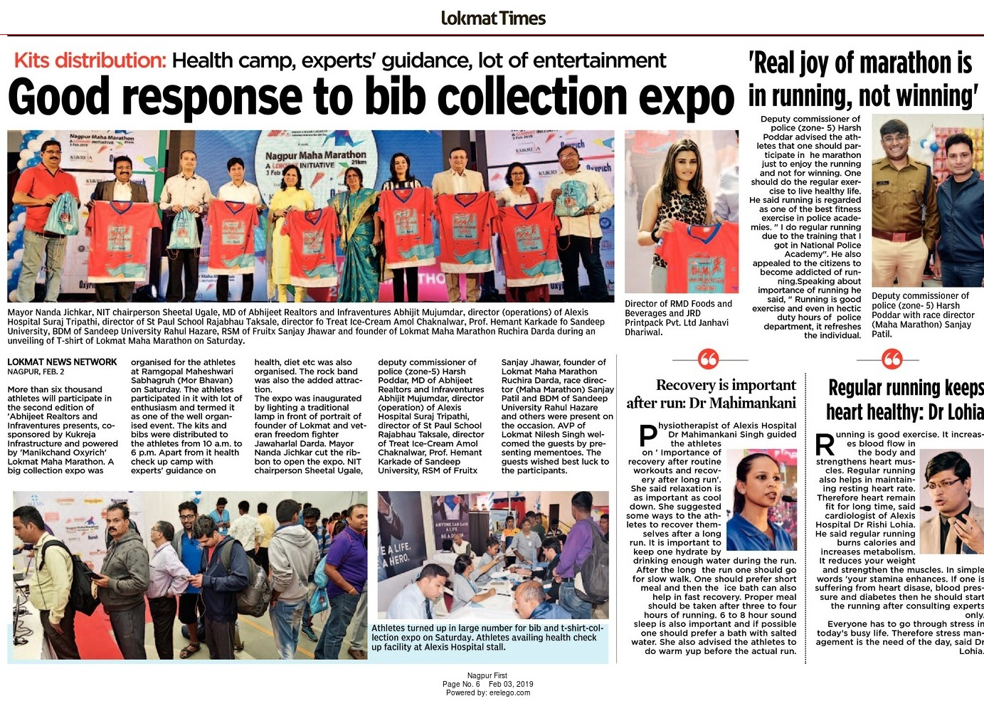 Good response to bib collection expo