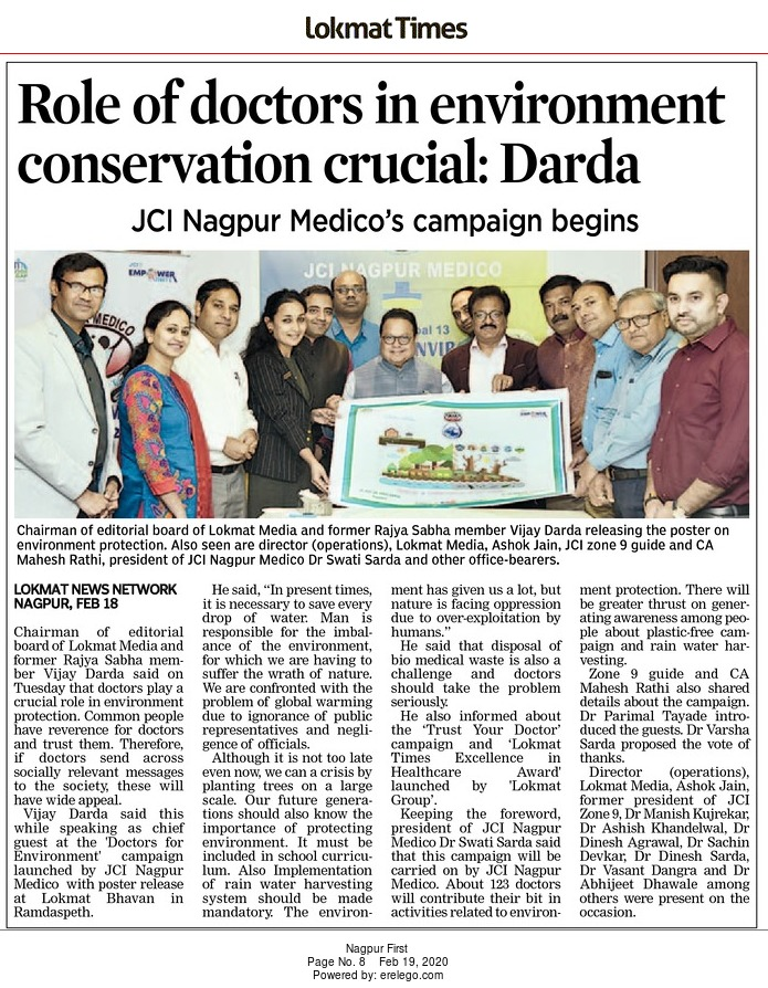 Role of doctors in environment conservation crucial: Darda