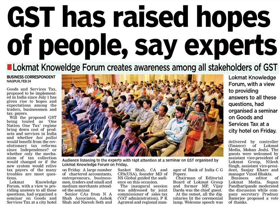 GST has raised hopes of people, say experts