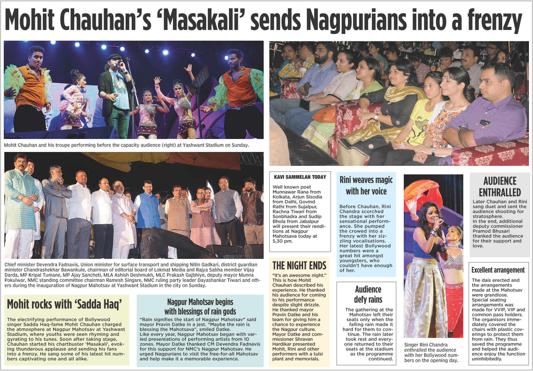Mohit Chauhan's 'Masakali' sends Nagpurians into a frenzy