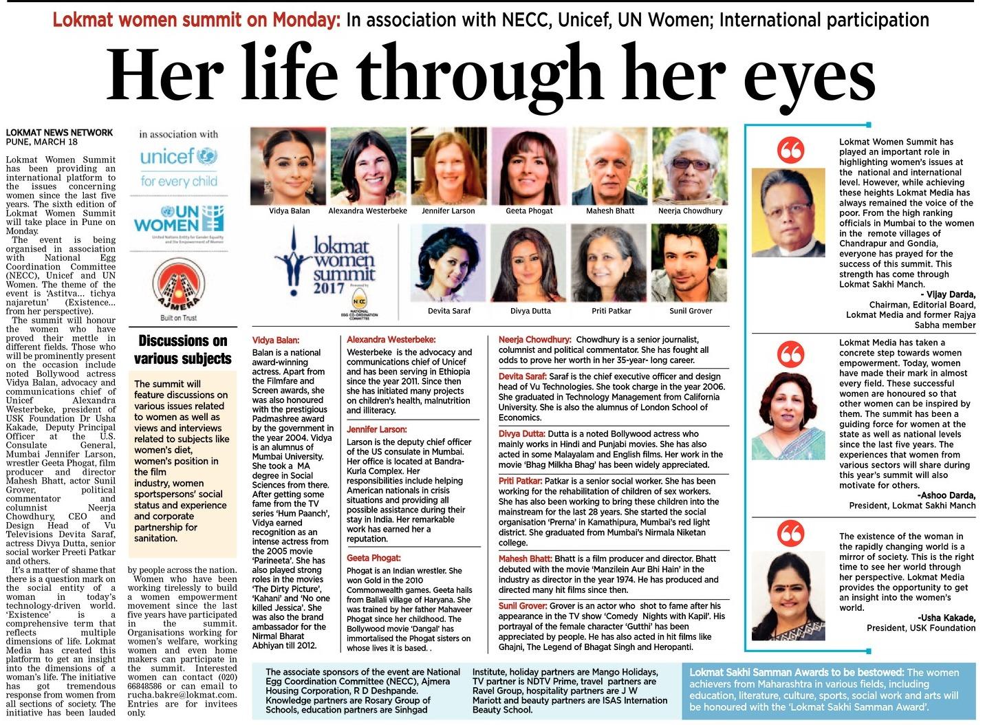 Her life through her eyes