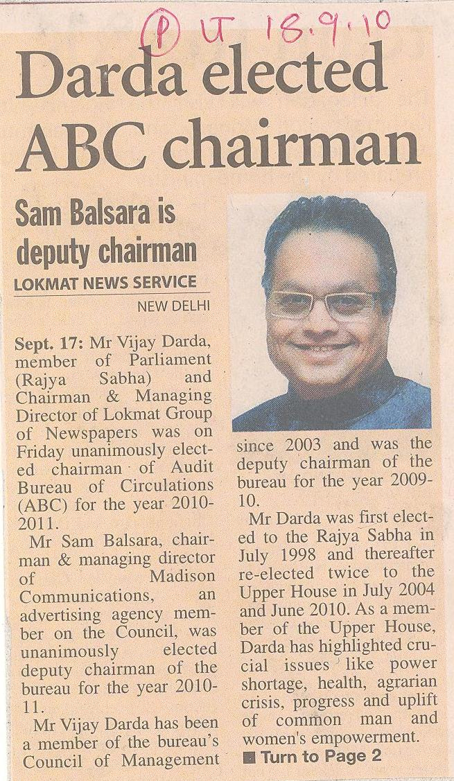 Darda elected ABC chairman