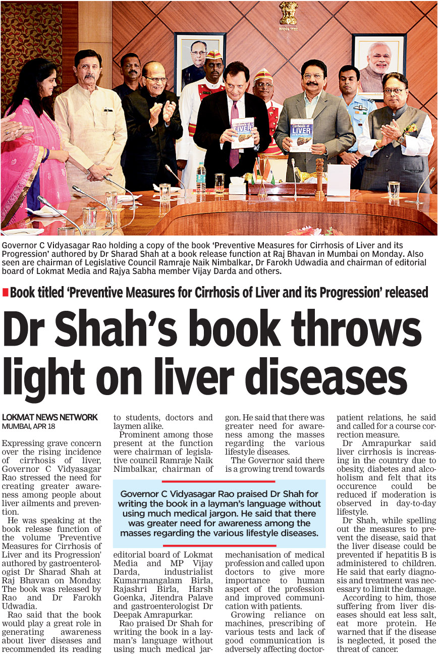 Dr Shah's book throws light on liver diseases
