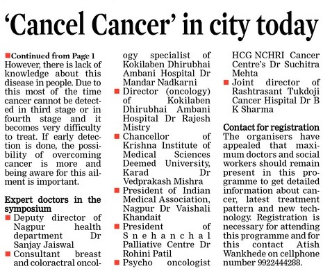 'Cancel Cancer' in city today