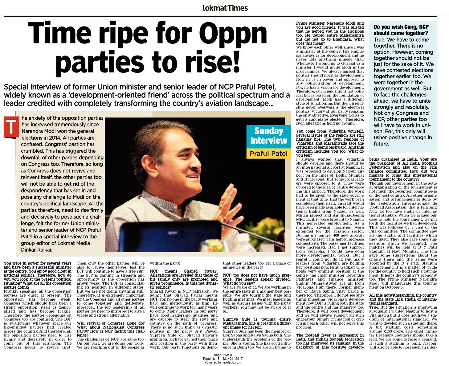 Time ripe for Oppn parties rise!