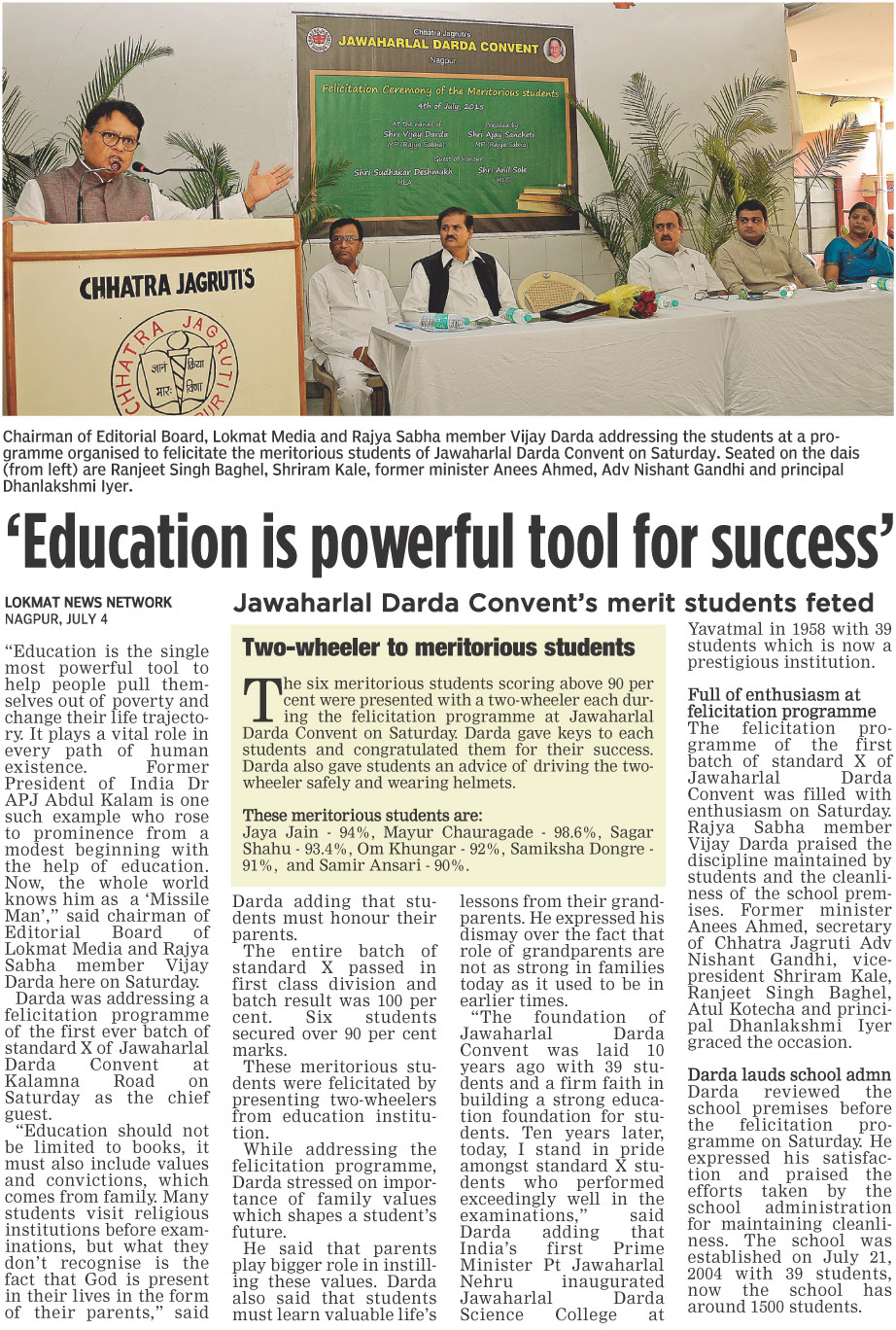 'Education is powerful tool for success'