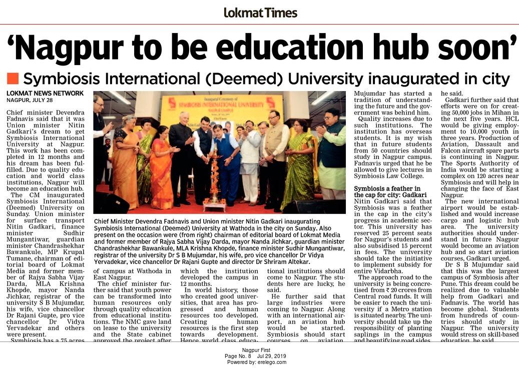 'Nagpur to be education hub soon'