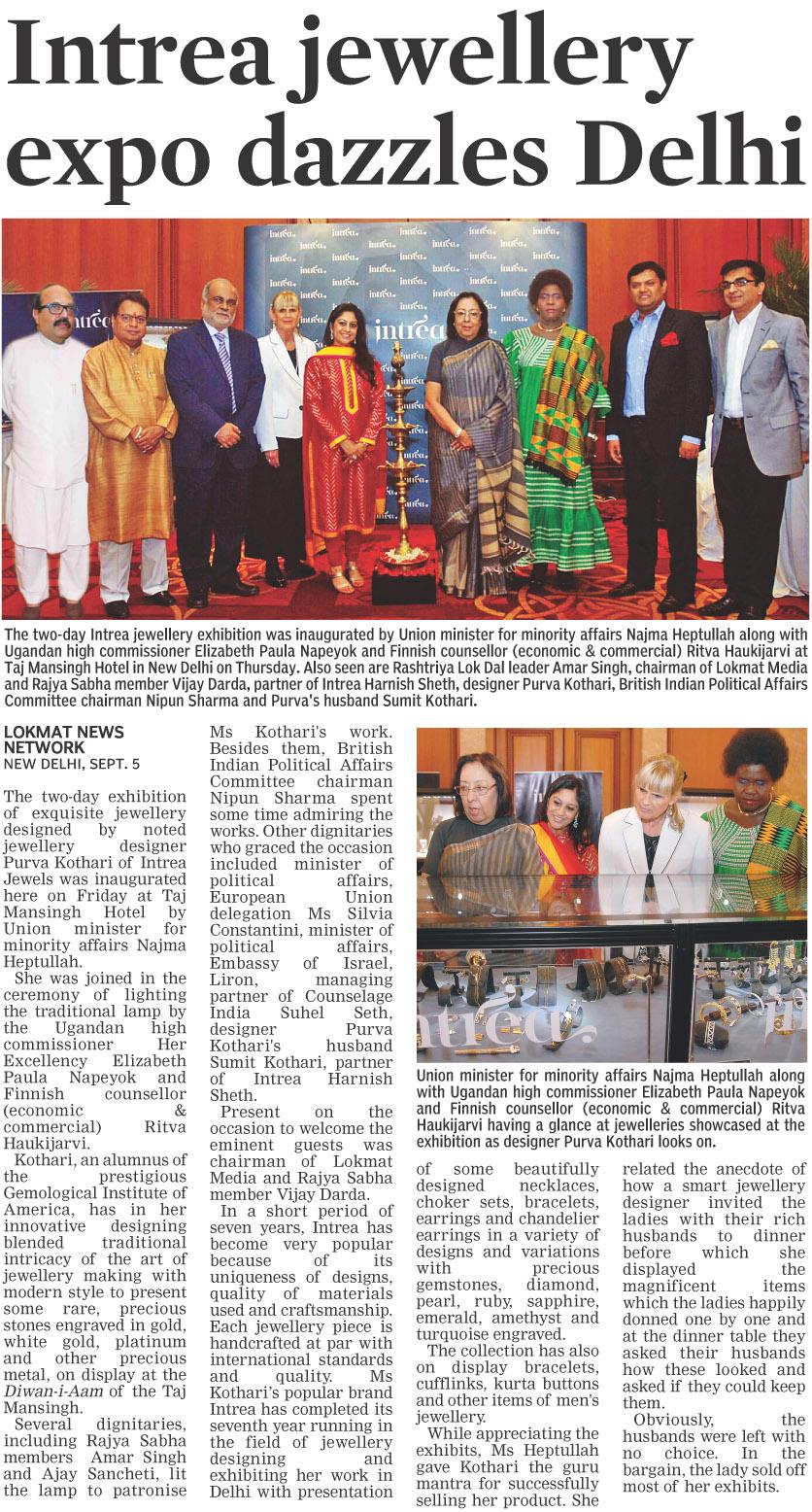 Intrea jewellery expo dazzles Delhi