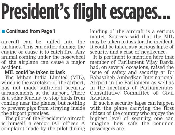 President's flight escapes…