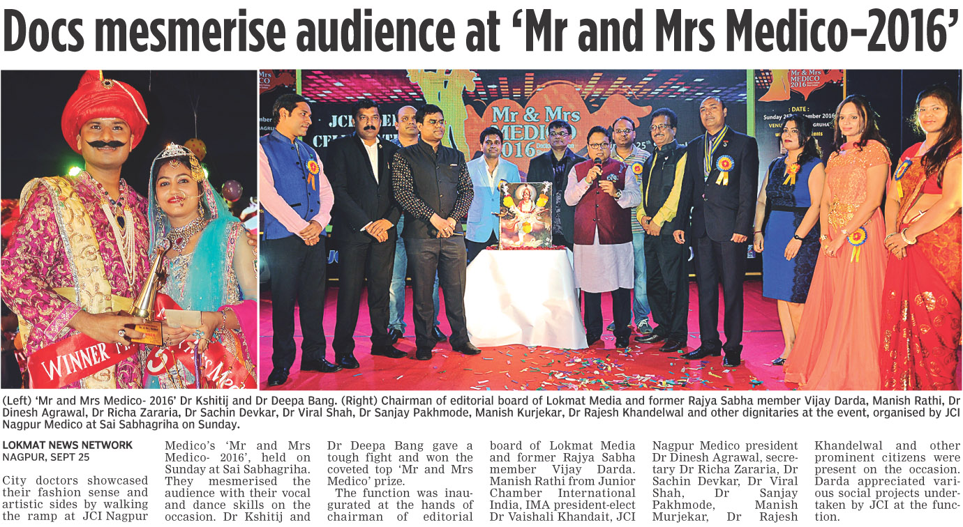 Docs mesmerise audience at 'Mr and Mrs Medico-2016'