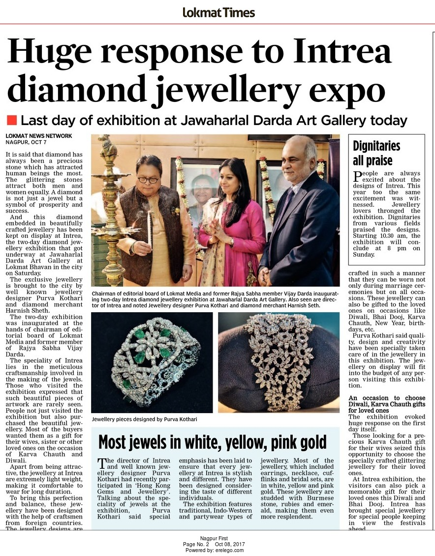 Huge response to Intrea diamond jewellery expo