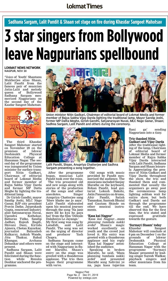 3 star singers from Bollywood leave Nagpurians spellbound