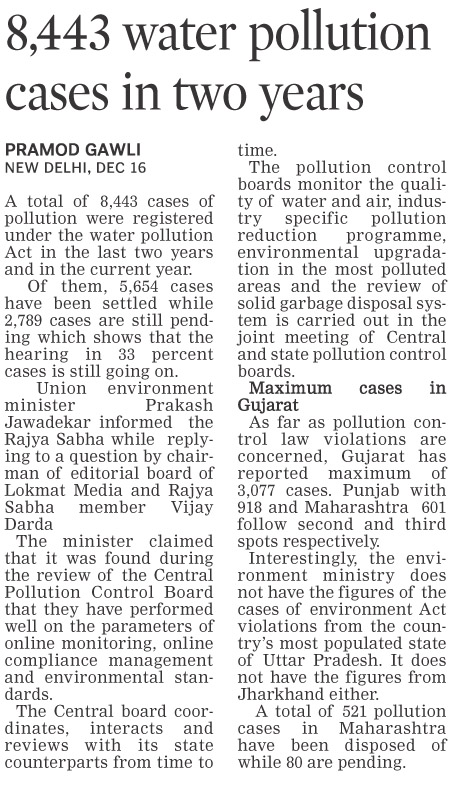 8,443 water pollution cases in two years