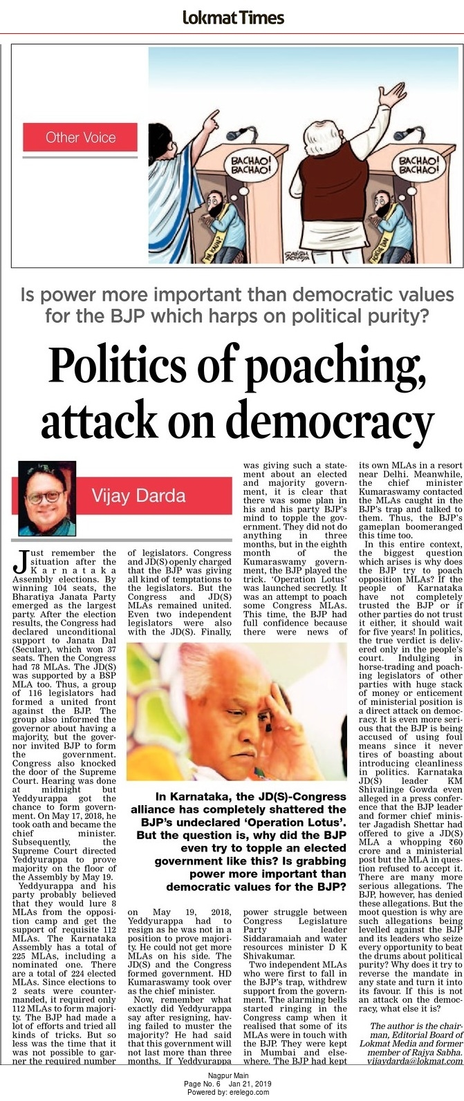 Politics of poaching, attack on democracy