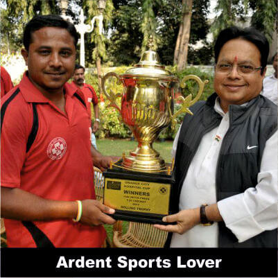 Vijay Darda - Ardent Sports Lover