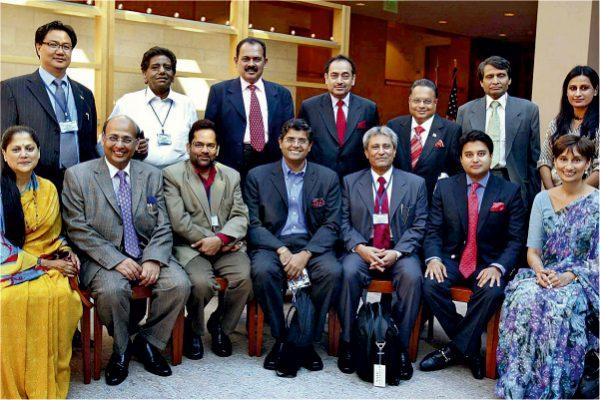 Vijay Darda attending an international summit as part of government delegation.